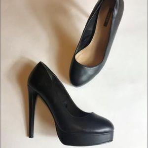 "Forever 21 Black 5"" Platform Stilettos Pumps Heels"